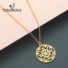 Ожерелье todorova с мандалой ожерелье из нержавеющей стали цветком