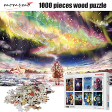 MOMEMO Polar Fantasy 1000 Pieces Wooden Puzzle for Adult Assembling Toy Landscape Jigsaws Puzzle Children's Educational Gift Toy