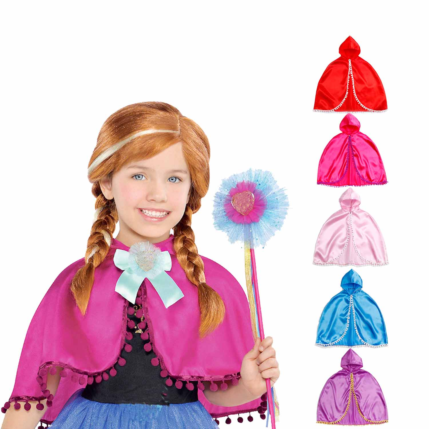 Costume CAPE Cloak Princess Dress-Up Inspired Fits-3-10y Birthday-Party Baby-Girl Toddler