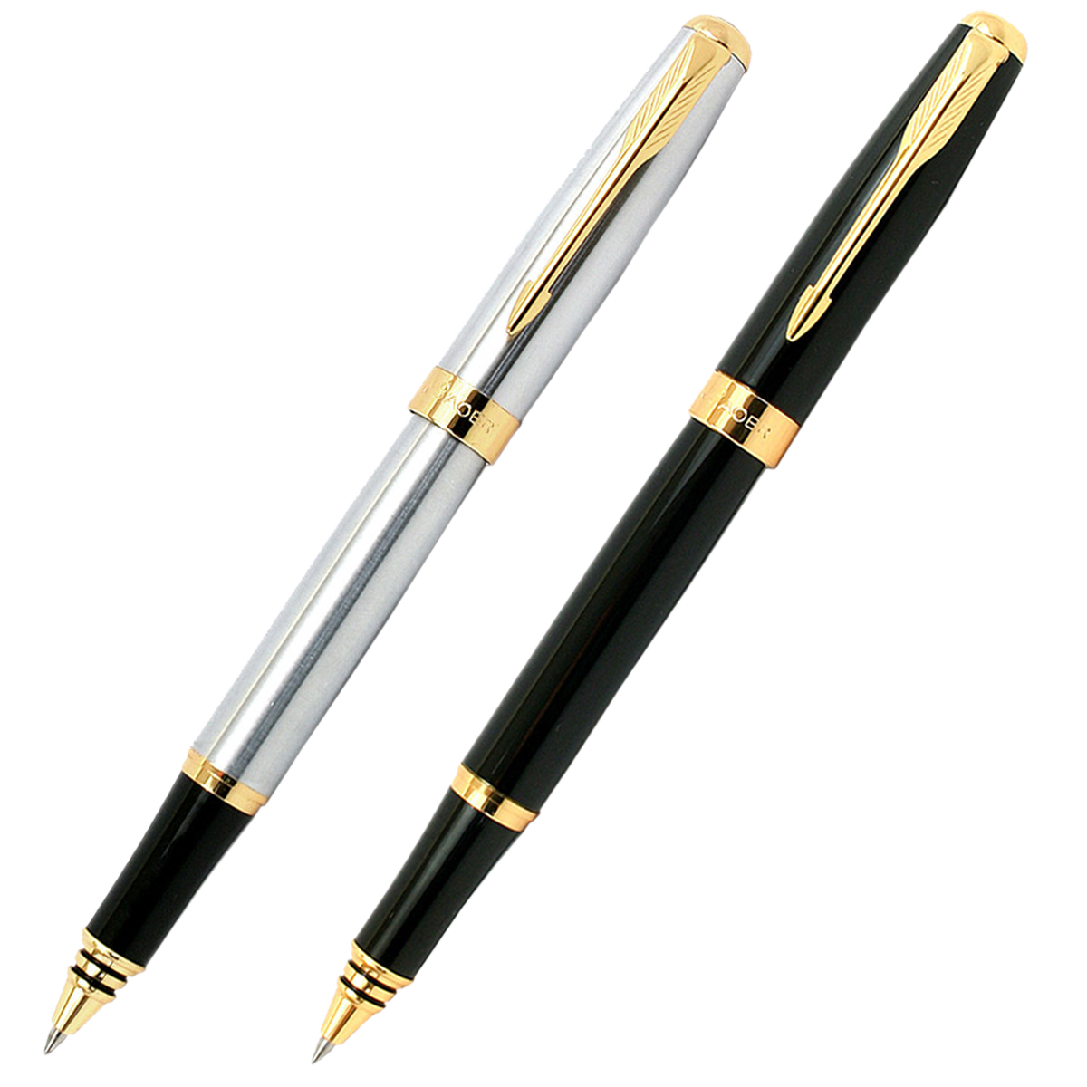 Baoer 388 High Quality Silver And Golden Clip Roller Ball Pen Business & School Supplies Hot image