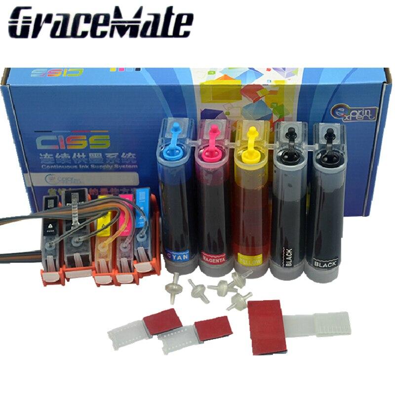 PGI-470 PGBK 470 471 CLI-471 CISS complet 5 couleurs d'encre Pour canon PIXMA MG6840 MG5740 TS5040 TS6040 imprimante