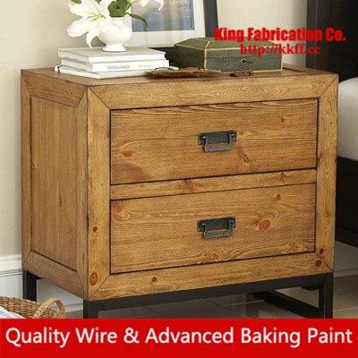 American Vintage Bedside Cabinet Solid Wood Locker Cd Storage