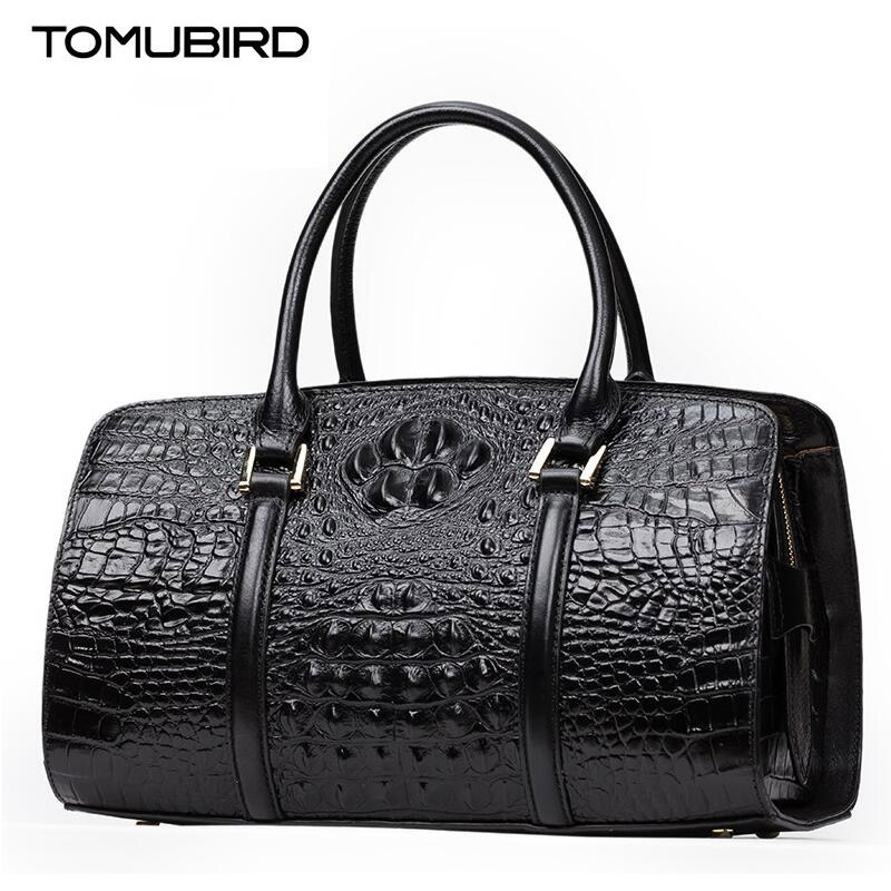 TOMUBIRD new Superior cowhide leather Crocodile Embossing famous brand women Tote fashion Luxury women genuine leather handbags tomubird new quality cowhide material embossed crocodile tote famous brand women bag fashion genuine leather handbags