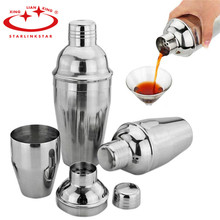 1pcs (250ml / 350ml ) Stainless Steel Food Grade Wine Shaker Cocktail Martini Mixer for Barware Bar Party Drink Home Wholesale