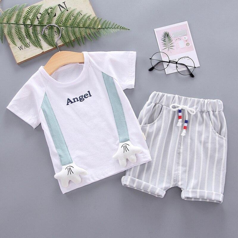 Baby Summer Clothes Boys Cartoon T Shirt Shorts 2pcs/sets Infant Cotton Garment Toddler Costume Children Tracksuit