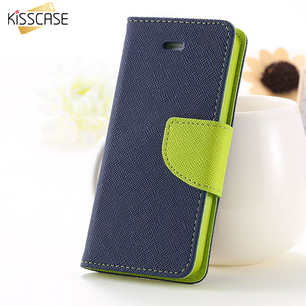 KISSCASE Case For iPhone 6 6S 7 Plus Cover Wallet Stand Flip Leather Cases Phone Accessories For iPhone 6s 7 7Plus Capa Fundas