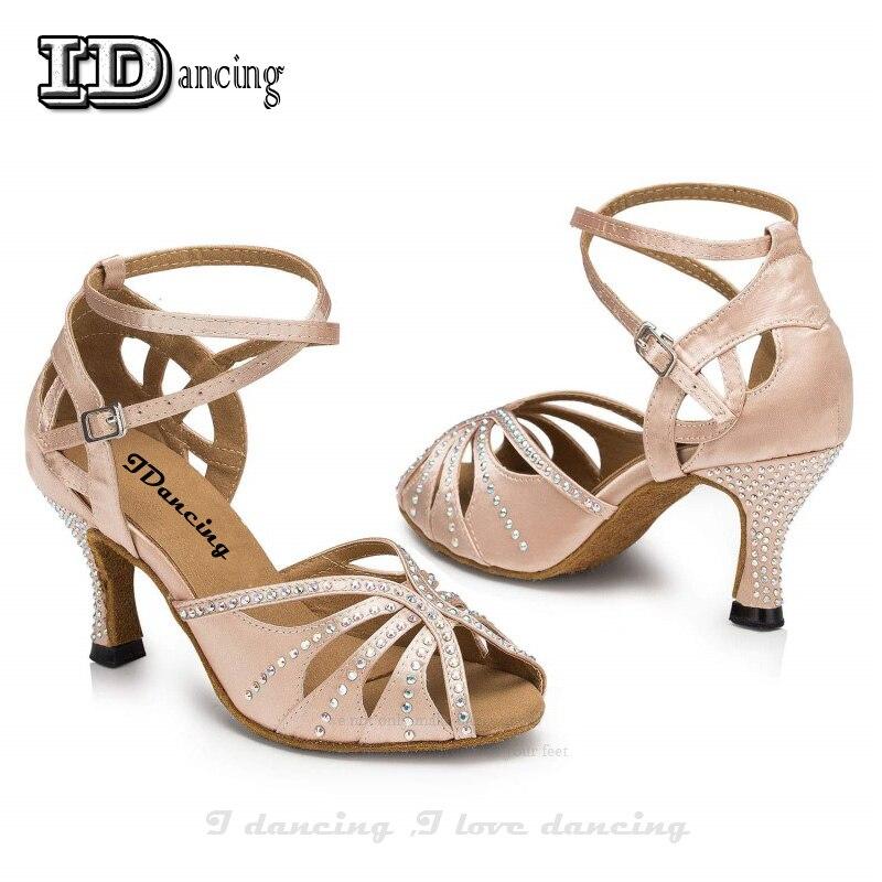 Rhinestone Dance Shoes Latin Dance Shoes Ballroom Latin Salsa Dancing Shoes  For Women Tango Shoes Sexy High Heel 8cm IDancing -in Dance shoes from  Sports ... 93992ac027a6
