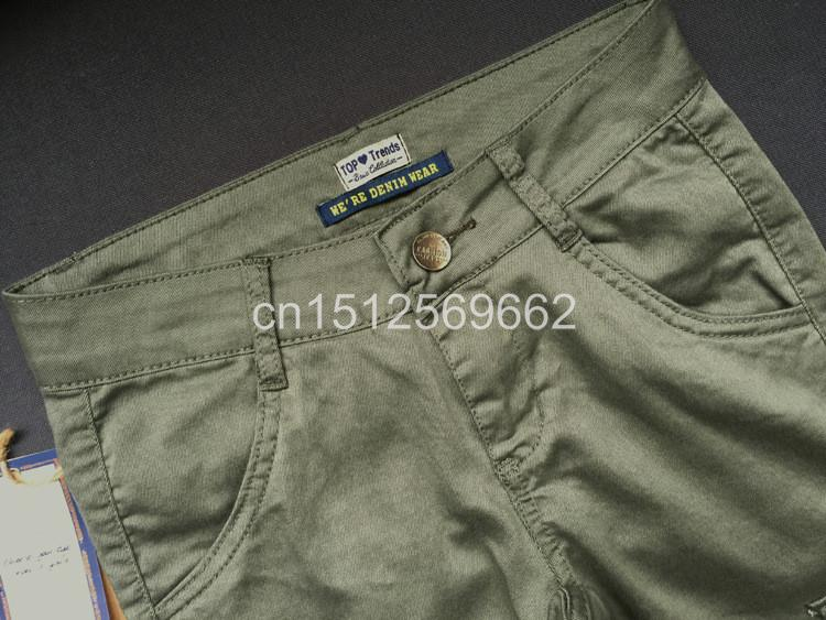 Army Green Jeans Women 10