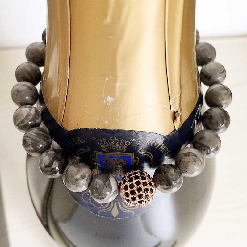 Mcllroy naturalny bransoletki z koralików kamiennych dla mężczyzn kobiety handmade diy męska bransoletka inkrustowane cyrkon bransoletki bransoletki hurtownie