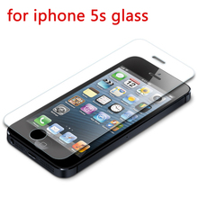 0.26mm Ultra-thin for iphone 7 Tempered Glass for iPhone 4 4s 5 5s 6 6s 7 plus screen protector protective guard film+clean kit стоимость