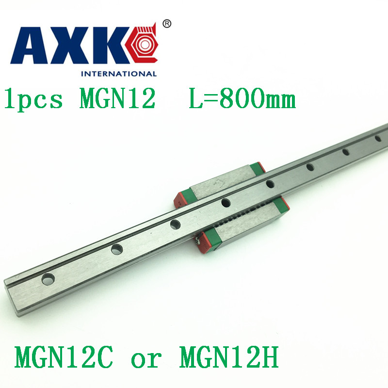 12mm Linear Guide Mgn12 L= 800mm Linear Rail Way + Mgn12c Or Mgn12h Long Linear Carriage For Cnc X Y Z Axis 12mm linear guide mgn12 l 250mm linear rail way mgn12h long linear carriage for cnc x y z axis