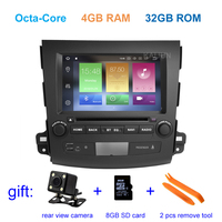 Octa core 4G RAM Android 8.0 Car DVD multimedia Player for Mitsubishi Outlander with wifi BT GPS Radio stereo