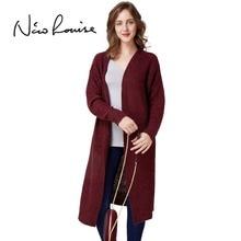 2018 Otoño Invierno mujeres Cardigan suéter moda femenina lana fina suelta  Oversized manga larga para las faac4fb93c2