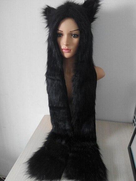 El señor raro moda nueva de piel sintética Cool divertido sombreros de  larga bufanda Lobo piel patas gorros de invierno de dibujos animados cálido  alta ... f9e9bd6c5f6