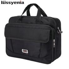 Kissyacademia pasta masculina de nylon, à prova dágua, mala de viagem, laptop de negócios, bolsa masculina ks1317