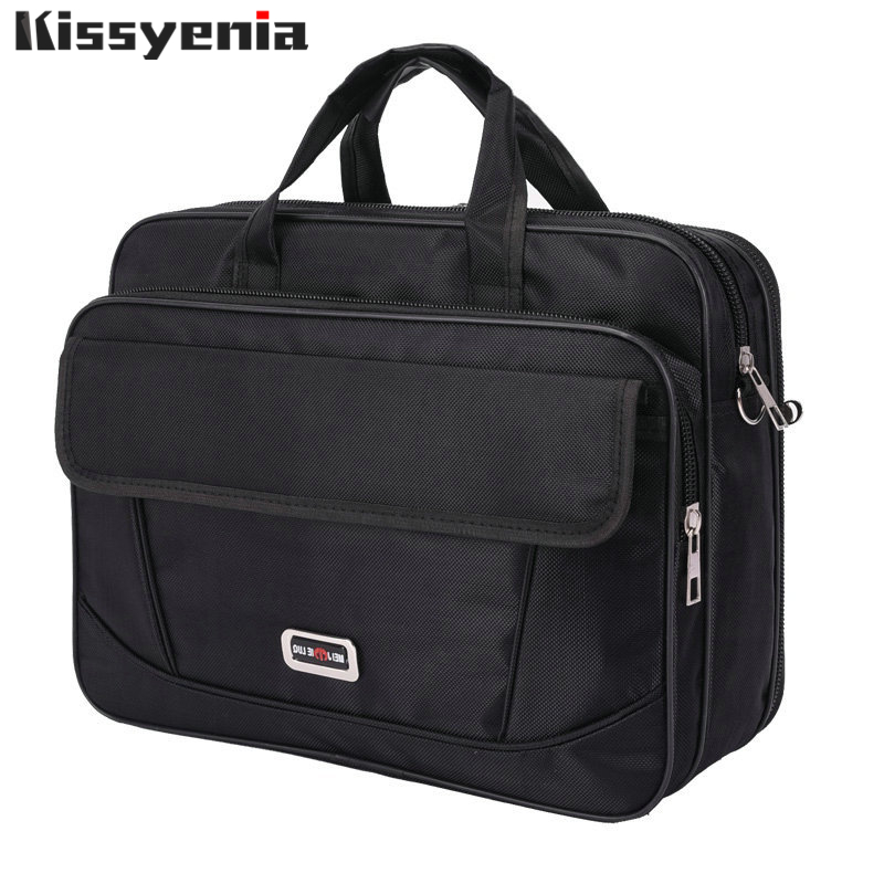 Kissyenia Brand Waterproof Nylon Laptop Briefcase Men Bag Travel Suitcase Business Laptop Men's Briefcase Bolsa Masculina KS1317