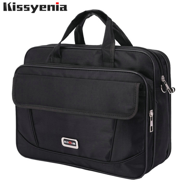 Kissyenia Brand Waterproof Nylon Laptop Briefcase Men Bag Travel Suitcase Business Laptop Mens Briefcase Bolsa Masculina KS1317