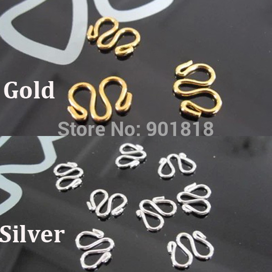 20 pcs/lot approx. 11*14mm Gold /Silver Copper W M Necklace Bracelet Clasps Hooks Connectors DIY Jewelry Findings F1730