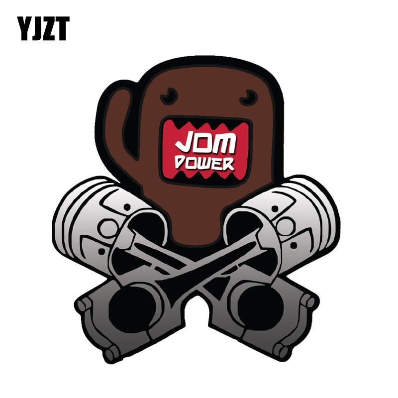 YJZT 9.4CM*10CM Car Styling Reflective DOMO KUN JDM POWER Lnterest Car sticker Decal C1-7506