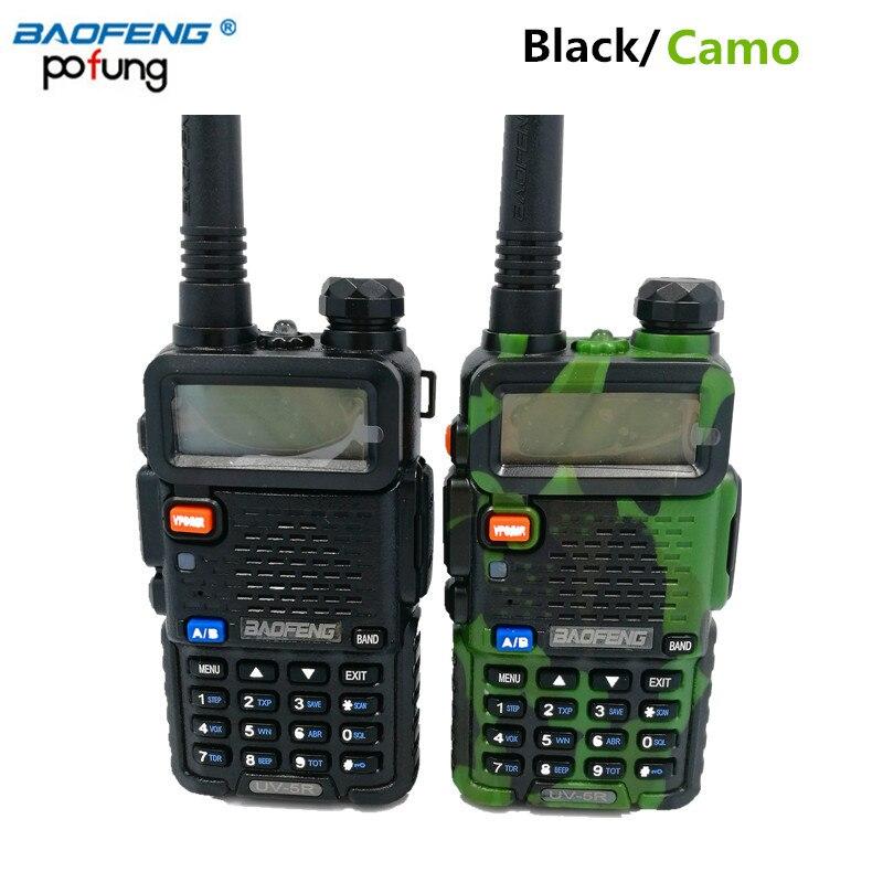 imágenes para Amateur radio portátil baofeng bf-uv5r walkie talkie pofung uv-5r 5 w 128ch doble banda radio de dos vías de radio fm (negro/Camuflaje)