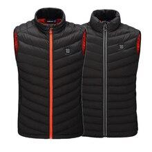Лучший подарок нагреватель жилет интеллектуальная нагревательная куртка USB электрическая батарея с подогревом тепла Открытый Туризм Sking куртка пальто тела Теплее