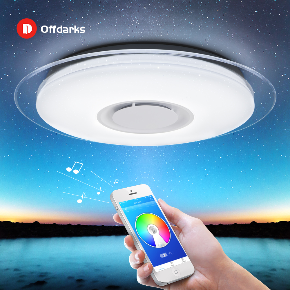 LED ceiling Light with RGB Dimmable 52W APP control Bluetooth & Music modern Led ceiling lights living room/bedroom 170-265V  リビング シャンデリア