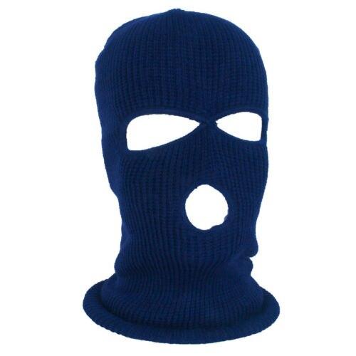 Image 5 - Армейская тактическая маска, 3 отверстия, маска для лица, лыжная маска, зимняя шапка, Балаклава, капюшон, мотоциклетный шлем, полный шлем для лица, Новинка-in Мотоциклетная маска from Автомобили и мотоциклы on AliExpress