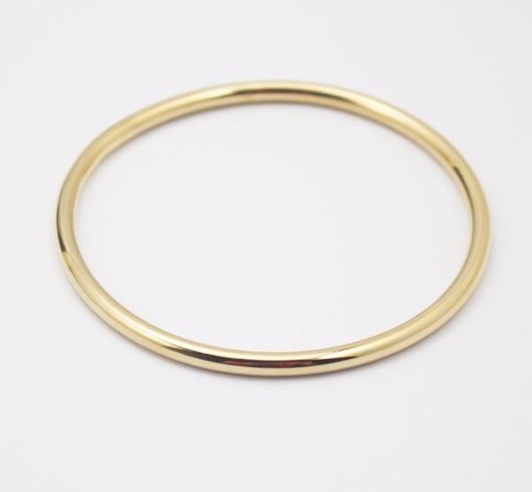 74c144618 Smooth Gold Cuff Bangle stainless steel Fashion WOmen girls 4mm 2.67''  bracelet