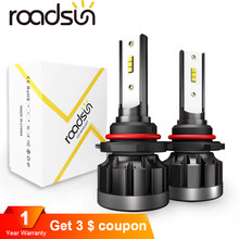 roadsun 6000K H4 LED H7 H1 HB4 H11 HB3 CSP Chip Car Headlight Bulbs 72W 12000LM Car Styling 9005 9006 led automotivo(China)