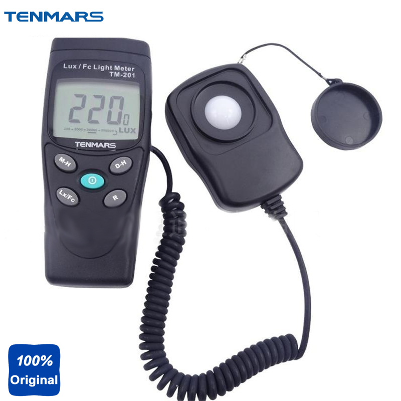 Digital LED Light Meter Luminometer Lux Meter Measuring Lights Source Include All Visible Range TM-201 brand new professional digital lux meter digital light meter lx1010b 100000 lux original retail package free shipping