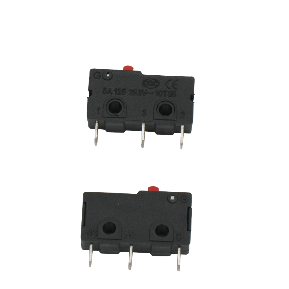 10 Pcs AC 125 250V 5A 3 Pins Red Cherry Arcade Push Button Actuator ...