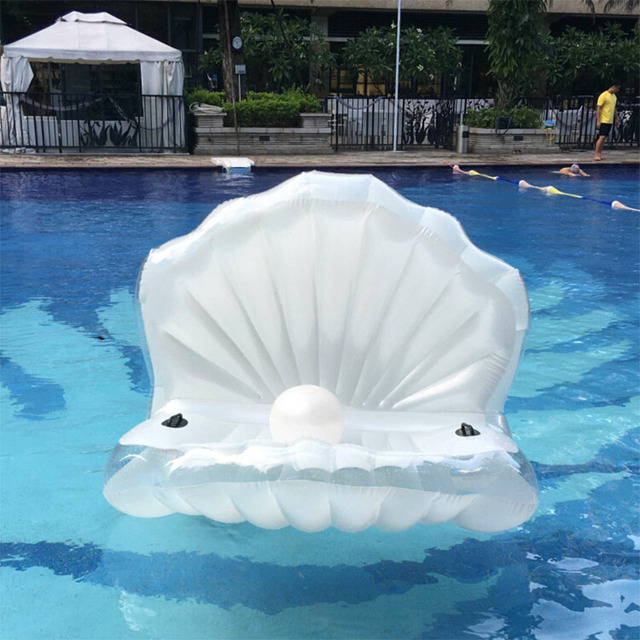 2016 New 170*120*120 Shells Inflatable In Water Floating Row Scallop Shells  Sofa