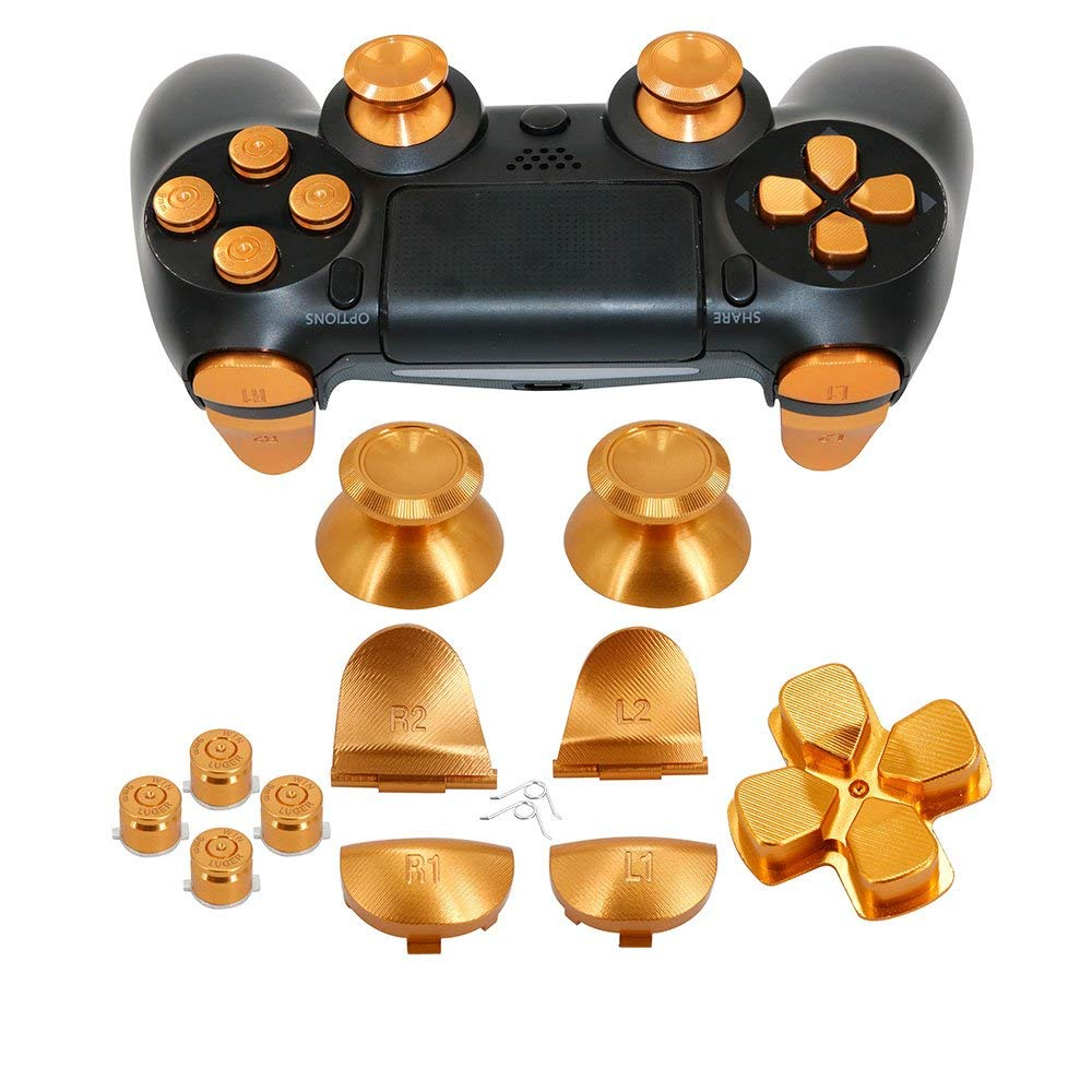 US $15 79 21% OFF|Full Aluminum Metal Buttons for PS4 Controller Custom  Metal Thumbsticks Analog Grip+ABXY + D pad + L1R1L2R2 Trigger Buttons-in