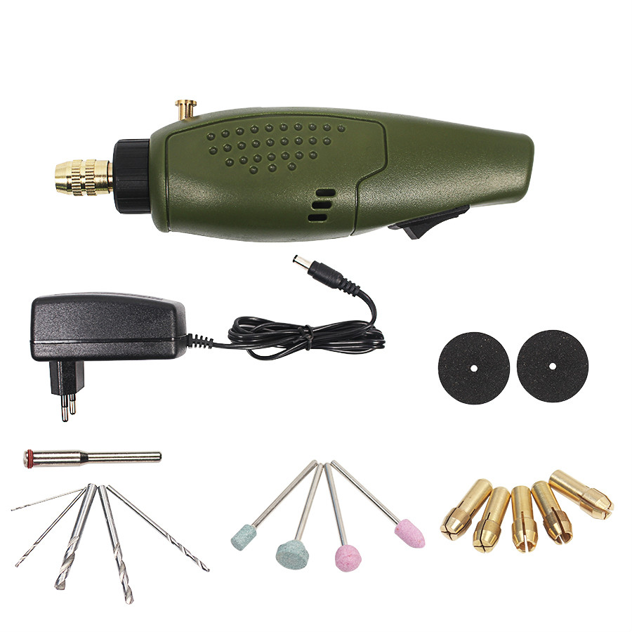 Mini Electric Drill Accessories Electric Grinding Set 12V DC Grinder Tool for Milling Polishing Drilling Engraving EU Plug