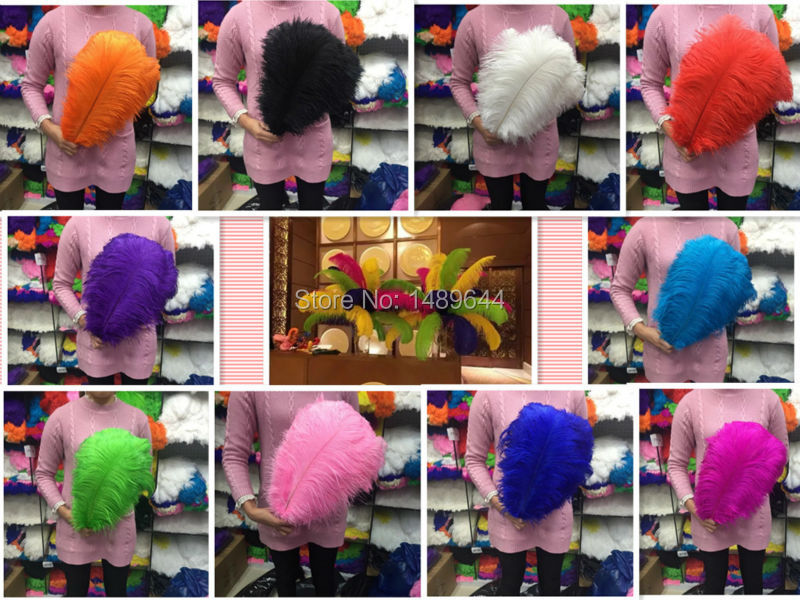 Top Free Shipping SALE 50pcs high quality ostrich feathers 14 16 inches 35 40 cm a