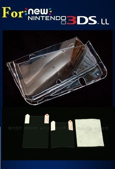 Чехол с кристаллами HOTHINK для New 3DS XL, защитный чехол + Защитная пленка для Nintendo New 3DS LL 3DSXL 3DSLL (новая версия)