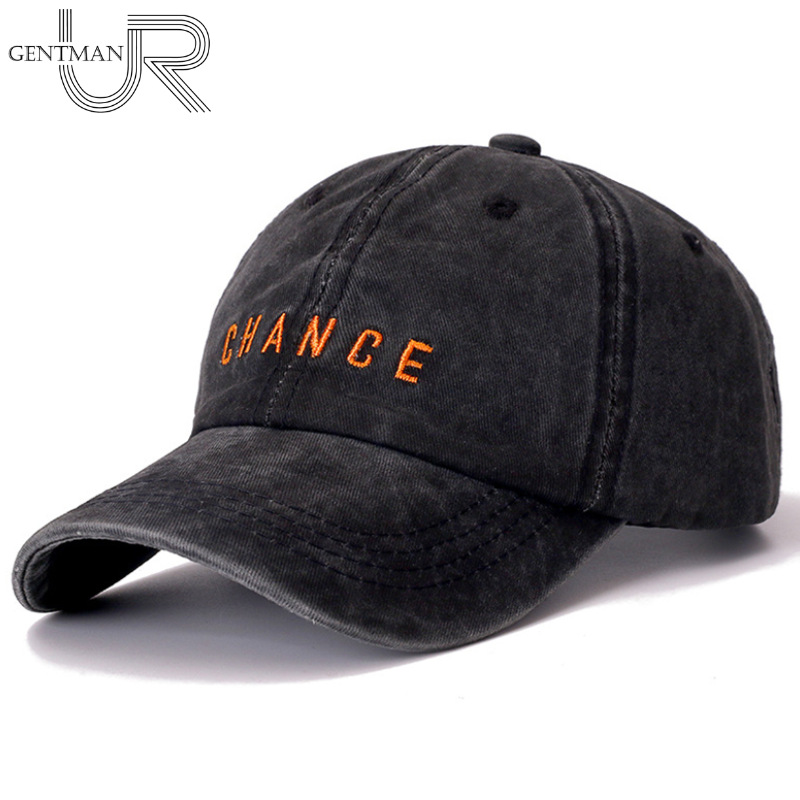 New Fashion CHANCE Letter Embroidered Baseball Cap High Quality Casual Hat Man Woman Adjustable Washed Cotton Vintage Cap