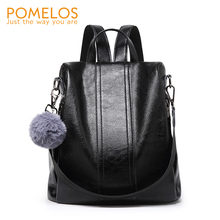 POMELOS Women Backpack Anti Theft Designer PU Synthetic Leather Bagpack Back Pack School Bags For Teenage Girls