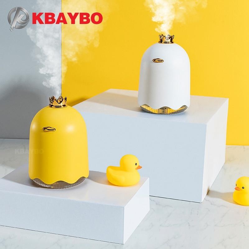 KBAYBO USB 250ml Aroma Difusor Óleo Essencial Ultrasonic Humidificador de vapor Frio com Luz CONDUZIDA Da Noite Mini Ventilador para o Escritório e Em Casa
