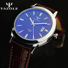 Brand Yazole Business Watch Men High Quality Movement Quartz Watch Auto Calendar Casual Watch Water Resistance 30m Masculino цена и фото