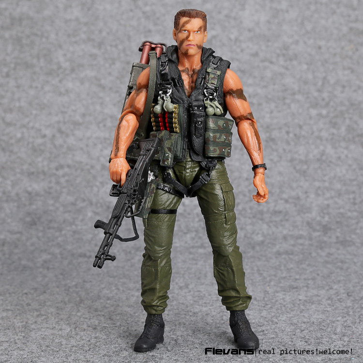 NECA Commando 30th John Matrix Arnold Schwarzenegger PVC Action Figure Collectible Model Toy 7 18cm MVFG348 neca pacific rim jaeger striker eureka pvc action figure collectible model toy 7 18cm