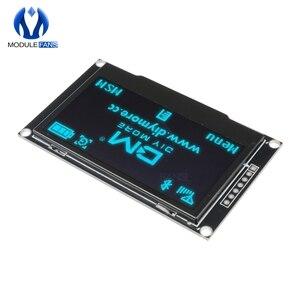 """Image 3 - Azul 2.42 """"tela lcd digital 12864 128x64 módulo de exibição oled placa para arduino ssd1309 stm32 diy eletrônico 2.42 polegada"""