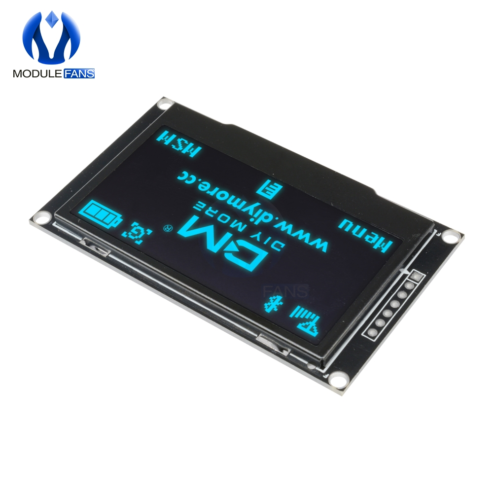"Image 3 - BLUE 2.42"" Digital LCD Screen 12864 128X64 OLED Display Module C51 Board For Arduino SSD1309 STM32 Diy Electronic 2.42 inchLCD Modules   -"