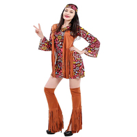 Women Peace Love Hippie Cosplay Gypsy Costume American Native Costumes 60s 70s Retro Hippies Singer