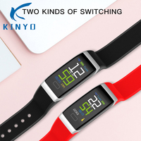 Smartband Two Kinds of switching Blood pressure Monitoring IP68 waterproof Alarm clock 7 days Normal use smart band wristband