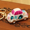 Classic car model women keychain bag pendant Plating color retention Rhinestone Opal Car key chain ring holder Jewelry ycys-034