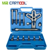MR CARTOOL 13pcs Harmonic Balancer Steering Wheel Puller Removal Automotive Tools Heavy Duty Crankshaft Gear Pullery Repair Kit