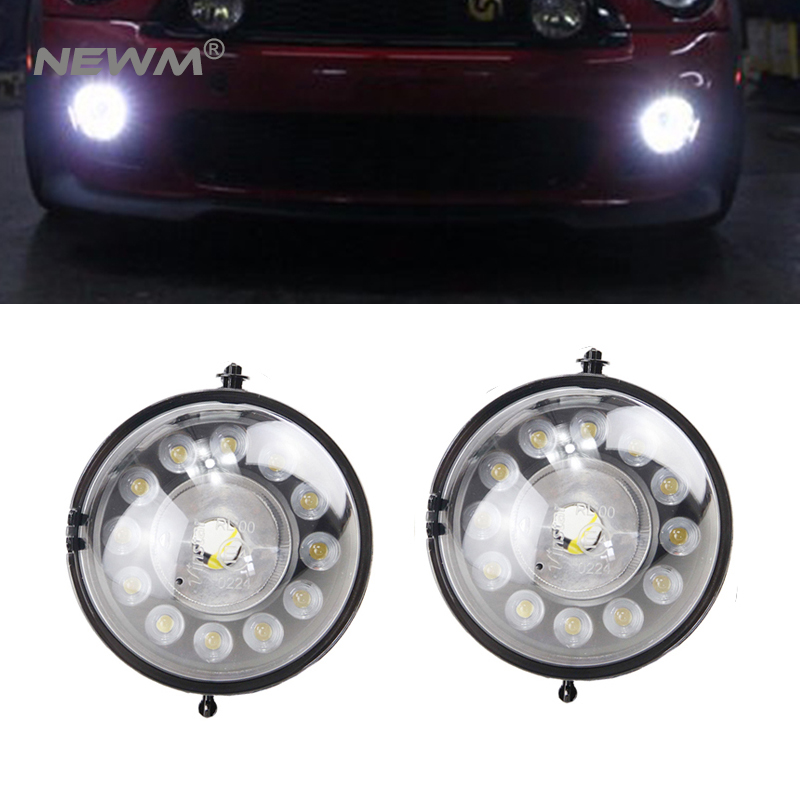 2 pieces LED daytime running light lamp For Mini Cooper DRL waterproof 12V R55 R56 R57 R58 R60 R61 front bumper ABS material