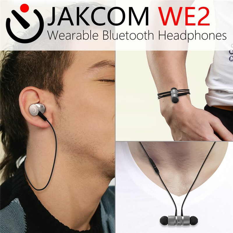 JAKCOM WE2 Wearable Bluetooth Headphones Sport Earbuds Wireless In-ear Noise Reduction Super Bass Waterproof Stereo for ios jbl synchros reflect i in ear sport headphones for ios devices black