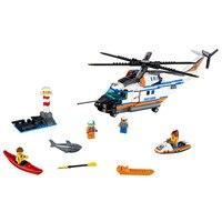 Lepin 02068 448 개 도시 시리즈 빌딩 블록, 무거운 구조 헬기, 어린이 과학 교육 장난